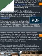 Rotting of Food Grains