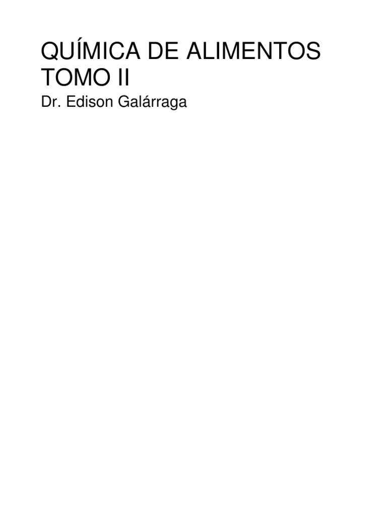 QUÍMICA DE ALIMENTOS TOMO II