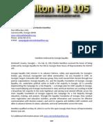 Press Release Hamilton HD 105 071112