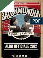 Albo ufficiale Balon Mundial 2012