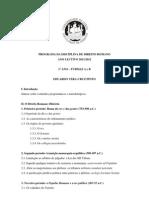 Direito Romano Programa 2011_2012