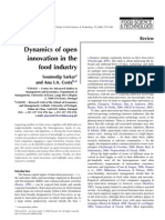Dynamics of Open Innovation in Food Industry
