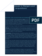 26811079 Ethical Issues in Mergers and Acquisitions