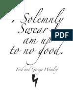 Solemnly Swearsheet