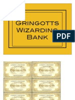 Ticket, Gringots, Playing Cards