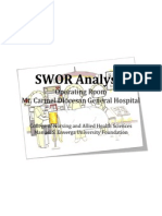 SWOR Analysis Or