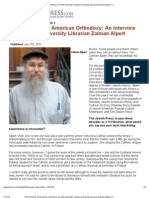 The Evolution of American Orthodoxy_ an Interview With Yeshiva University Librarian Zalman Alpert _ JewishPress