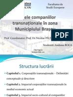 Efectele companiilor transnaționale în zona Municipiului Brașov
