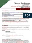 Website Maintenance Contract