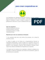Requisitos Para Crear Cooperativas en Venezuela