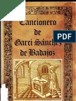Cancionero de Garci Sanchez de Badajoz