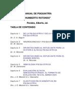 """Manual de Psiquiatría """"Humberto Rotondo"""""""