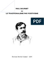 Doctrine Du Nationalisme-Paul Bourget Ou Le Traditionalisme Par Positivisme