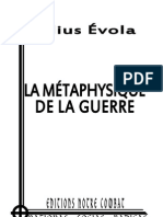 Evola Julius, La métaphysique de la Guerre