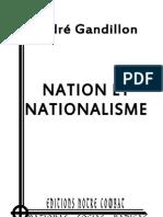 Gandillon André, Nation et Nationalisme (2012)