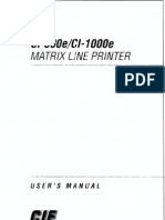 C-ITOH 500e 1000e Users Manual