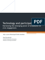 technology and participation-Harnessing the emerging power of broadband for civic engagement.-clerks2012.pptx