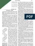 Watson Crick Molecular Structure
