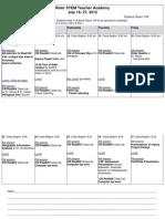 STEM 2012 Schedule