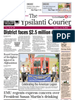 Ypsilanti Courier front page July 12