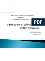 Simulations of WiMAX Using OPNET Simulator