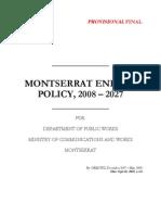 Montserrat Energy Policy 2008-2027