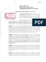 Apelación de Marco Arana contra resolución que no reconoce arbitraria detención (EXP. No. 2012-798)