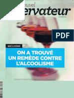 On a trouvé un remède contre l'alcoolisme (NvObs-juin 2012)