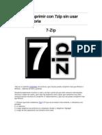 Como Comprimir Con 7zip Sin Usar Tanta Memoria