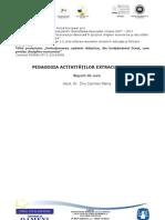 Disciplina_Optionala 1 A4 - Pedagogia activităţilor extracurriculare