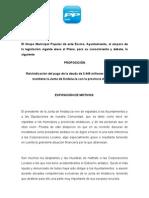 Reivindicación del pago de la deuda de 3.446 millones de euros que mantiene la Junta de Andalucía con la provincia de Sevilla.