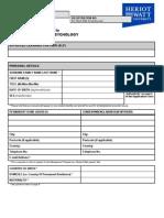BA Management & Psychology Application Form
