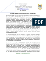 Informe Visita a Instituciones Educativas
