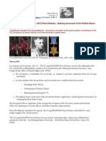 2012-07-11 OccupyMARINES Press Release (July 8, 2012) - defining document of the Robber Baron Revival Era