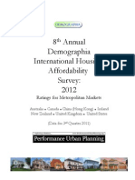 Demographia International Housing  Affordability  Survey