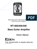 Eden Electronics WT800/600/500 Owners Manual (2003)
