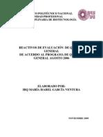 Reactivos de Evaluacion de Quimica General