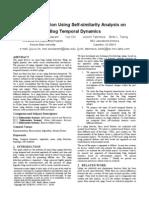Splog Detection Using Self Similarity Analysis