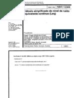 ABNT NBR 13369 Cálculo simplificado do nível de ruído equivalente