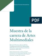 Muestra de la carrera de Artes Multimediales