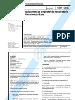 ABNT NBR 13697 Equipamentos de proteção respiratória - filtros mecânicos