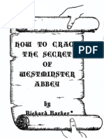 How to Crack the Secret of Westminster Abbey by Richard Barker