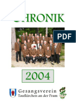 Gesangsverein Taufkirchen Chronik 2004
