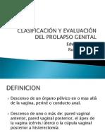 clasificación y evaluación del prolapso 2012