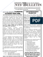 Parents Bulletin # 3, s. 2012