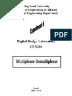 Experiment6-Multiplexer-Demultiplexer