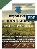 Buku Program Kejohanan Sukan 2012