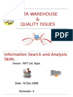 Data Warehouse and Quality Issues