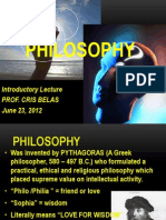 Introduction Lecture on Philosophy (1)
