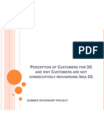Perception of Customers for 3G and Why Customers